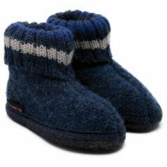 Haflinger - Kids Paul - Pantoffels maat 23, zwart/blauw