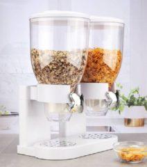 Haushalt 16119 - Muesli dispenser - 2 containers - wit - 2 x 3.5 liter
