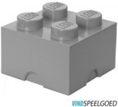 LEGO 4003 Storage Brick Opbergbox - 25x25 cm - Grijs Design Edition