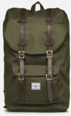 Groene Herschel Little America Rugzak Ivy Green/Chicory Coffee