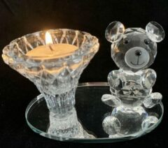 Zhu Kristallen glazen beer met waxinelichtjeHouder & kaarsenhouder 10x6.5x6.5cm