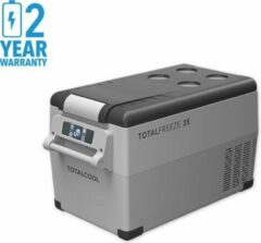 Grijze Totalcool Totalfreeze - 35 - Camping koel/vries box - 12/24/230 V - 45 Watt- fluisterstill