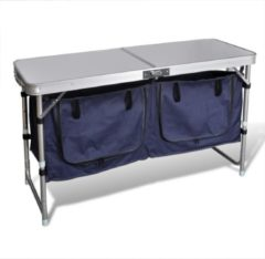 Zilveren VidaXL Campingkastje met aluminium frame