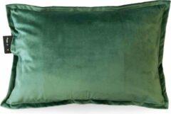 Sit & Heat - Wamtekussen Rectangle Groen 40 x 60 cm voor binnen en buiten. [kussen van velours/Velvet/Fluweel]