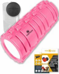 Roze Rising-Phoenix RP® Foam Roller inclusief Massage Bal Foamroller Massage Roller & Massagebal - Met Tas, Triggerpoint Bal, Workout eBook & Poster