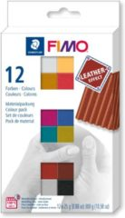 FIMO - STAEDTLER Fimo leather-effect set - colour pack 12 st