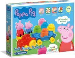 Baby Clementoni - Kleine Treinset Peppa Pig - Blokkenwagen - 14 stukjes, blokken voor kinderen