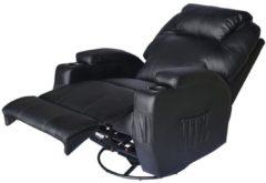 HOMCOM TV Sessel mit Massage- und Wärmefunktion Massagesessel Fernsehsessel Relaxsessel Massagestuhl Wärme Massage Sessel