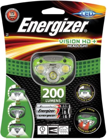 Afbeelding van Energizer Hoofdlamp Vision Hd+, Inclusief 3 Aaa Batterijen, Op Blister