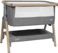 Grijze Topmark Tutti Bambini Cozee Bedside Wieg Oak Charcoal
