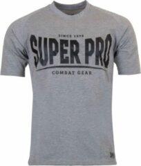 Super Pro Sportshirt - Maat XL - Mannen - grijs/zwart