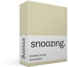 Zandkleurige Snoozing - Dubbel Jersey - Hoeslaken - Lits-jumeaux - 200x200/220 cm - Zand