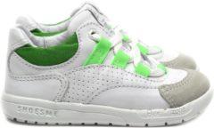 Shoesme witte sneakers met groene details (RF20S010-D). Maat 28