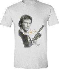 Witte Star Wars Heren T-shirt Maat S