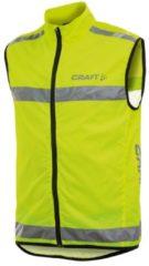 CRAFT veiligheidshesje Visibility, neongeel veiligheidsvest, voor heren, Maat L,