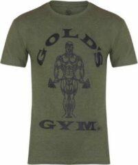 Groene Gold's gym GGTS002 Muscle Joe T-Shirt - Army - S
