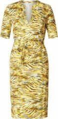 Gele IVY BEAU Tyske Jurk - Yellow/Multi-Colour - maat 40