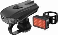 Zwarte Pro Sport Lights Smart Accelerometer Fietsverlichting rechthoek