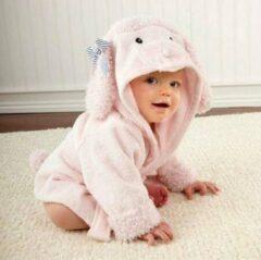 Baby badjas - Komfor - Schaap - roze - Inclusief gratis baby borstel & kam