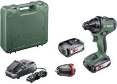 Bosch Home and Garden AdvancedDrill 18 Accuschroefboormachine B-grade (nieuwstaat, beschadigde/ontbrekende verpakking) 18 V 2.5 Ah Li-ion Incl. 2 accus, Incl.