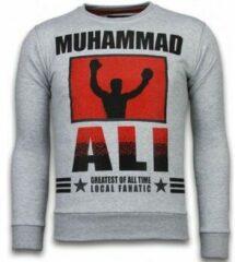 Grijze Sweaters Local Fanatic Muhammad Ali - Rhinestone Sweater