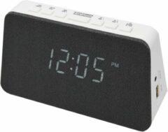 AIC WM3020I wekkerradio met draadloze telefoonoplader - Dual alarm – wit