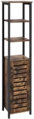 Maison Home Maison's Opbergkast - Vakkenkast - Boekenkast - 2 planken - Industrieel - Bruin/Zwart - 37x30x167