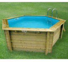 Ubbink zwembad hout 'Azura' 410 x 350 cm