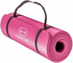 Gymston Fitnessmat Inclusief draagtas en extra draagriem - 183 cm x 61 cm x 1.5 cm - Roze