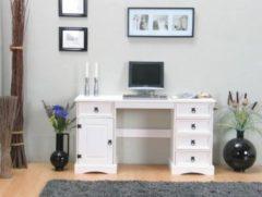 Dynamic24 Schreibtisch New Mexiko Mexico Arbeitstisch Landhaus PC Computer Büro Tisch weiß
