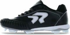 Ringor Dynasty Softbalschoenen met Kunststof Spikes en Pitching Toe (PTT) - Zwart - US 6
