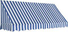 VidaXL Luifel 250x120 cm blauw en wit