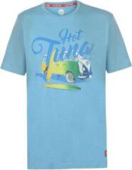 Lichtblauwe Hot Tuna Printed T-Shirt - Maat S - Heren - Licht blauw