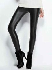 Zwarte YOINS Solid Color Bodycon Leather Leggings