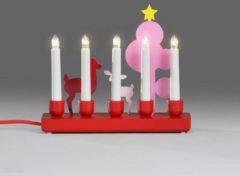 Kerstkaars - Warm wit - Alleen voor binnen - Konst Smide