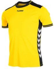 Gele Hummel Lyon Sportshirt performance - Maat S - Unisex - geel/zwart
