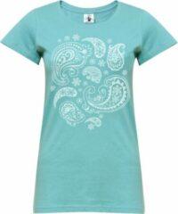 "Turquoise Yoga-T-Shirt ""paisley"" - mint S Loungewear shirt YOGISTAR"