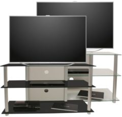 TV-Rack Lowboard Konsole Fernsehtisch TV Möbel Bank Glastisch Tisch Schrank 'Posio Big XXL' VCM Klarglas