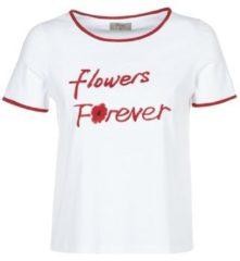 Witte T-shirt Korte Mouw Betty London INNATIMBI