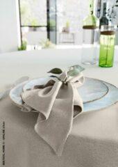 Mistral Home - set van 4 servetten - katoen polyester - 43x43 cm - beige