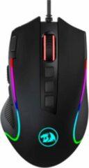 Zwarte Redragon M612 Predator RGB Gaming Muis | met Quick-Fire Button tot 8000 DPI met 11 programmeerbare knoppen | FPS professionele gaming muis met extra-snelle vergulden USB 3.0 connector & Braided kabel | Comfortabele Ergonomische grip