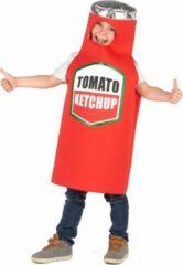 Rode MODAT - Ketchup kostuum voor kinderen - 10 - 12 jaar (L) - Kinderkostuums