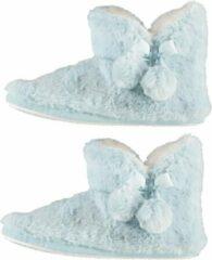 Lichtblauwe Apollo Pantoffels dames - Sloffen - Pantoffels - Sloffen dames - Zacht - Licht blauw - Maat 39/40