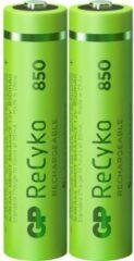 GP batterijen Oplaadbare AAA batterij (potlood) GP Batteries ReCyko+ HR03 NiMH 850 mAh 1.2 V 2 stuk(s)