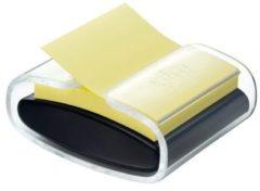 Post-it Houder voor plaknotities PRO-B1Y Aantal bladen (max.): 90 vel Geel Kleur container: Zwart (transparant)