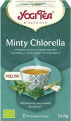 Yogi tea Minty Chlorella Voordeelverpakking - 6 pakjes van 17 theezakjes