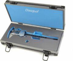 Zwarte Dasqua IP 54 Professionele 150 mm Digitale Schuifmaat met Groot Scherm en Metalen behuizing (RVS)