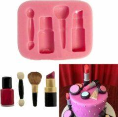 Roze Ardran & Tookar Fondant Make Up Mal - Siliconen Makeup versiering vorm - Lippenstift Fondant / Marsepein / Chocolade / Zeep - Voor decoratie van taart, cupcakes en cake