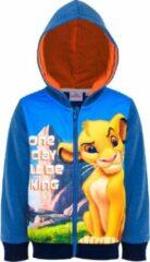 Blauwe Disney Lion King Jongens Sweatvest Maat 98