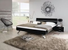 Rauch-PACKs Bett 140 x 200 cm mit Nako-Set schwarz hochglanz/ alpinweiß RAUCH PACKS Mavi Plus
